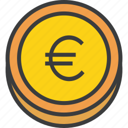 business, coin, currency, euro, finance, forex, trade icon