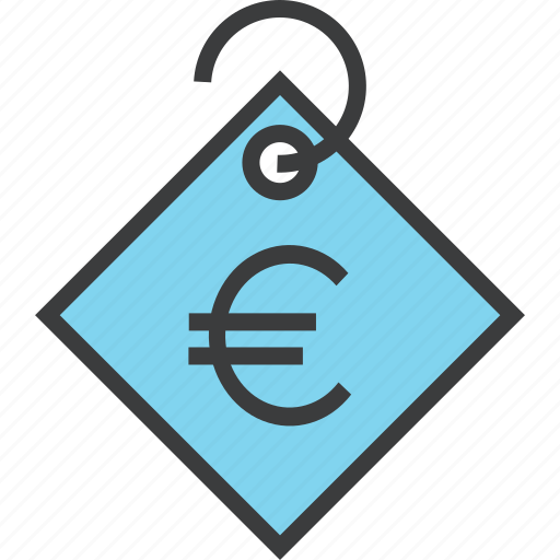 currency, ecommerce, euro, price, sale, shopping, tag icon