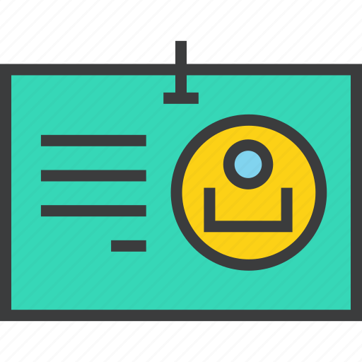 customer, details, employee, id, identity, tag, user icon
