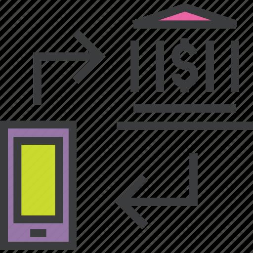 bank, communication, dollar, ecommerce, etrade, finance, mobile banking icon