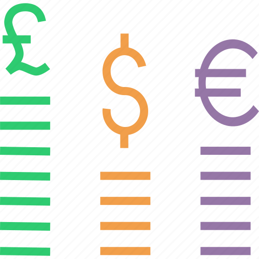 currency, dollar, euro, exchange, finance, foreign, pound icon