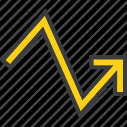 analysis, arrow, graph, progress, statistics, trade, upward icon