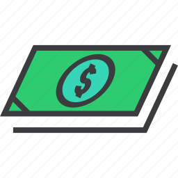 bills, business, cash, dollar, finance, funds, money icon