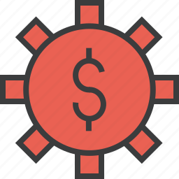 banking, business, cash, options, settings, trade, vault icon