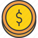business, coin, currency, dollar, finance, forex, trade icon