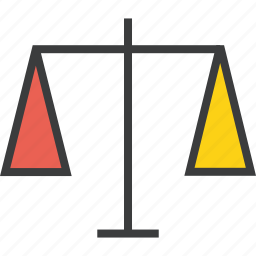 balance, equality, finance, justice, law, measure, trade icon