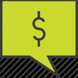 balance, communication, dollar, message, mobile banking, notification, transaction details icon