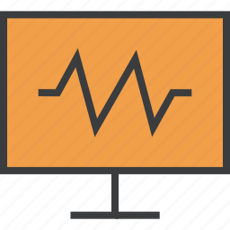 activity, alert, computer, graph, health, monitor, system icon