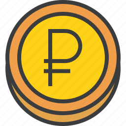 business, coin, ecommerce, finance, forex, ruble, trade icon