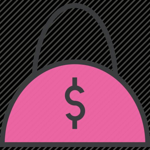 bag, balance, buy, dollar, handbag, shopping, trade icon