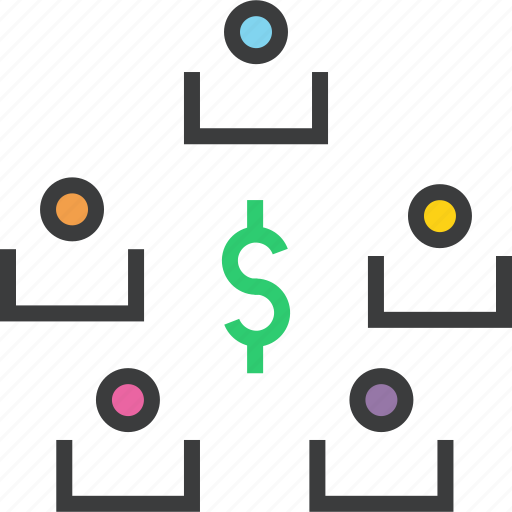 business, dollar, exchange, stakeholders, transaction, transfer icon