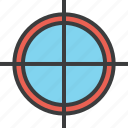 aim, crosshair, focus, goal, hunt, shoot, target icon
