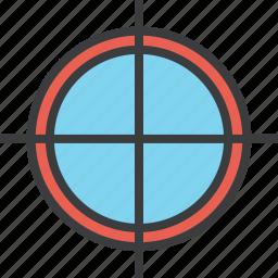 aim, crosshair, focus, goal, hunt, shoot, target icon