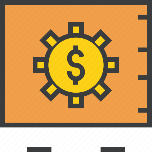 bank, dollar, locker, protection, safe, secure, vault icon