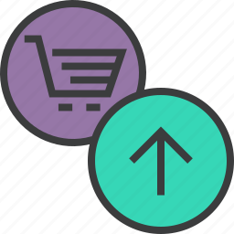 add, add to cart, cart, ecommerce, item, shopping, upload icon