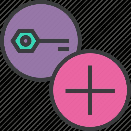 add, create, encryption, key, new, password, protection icon