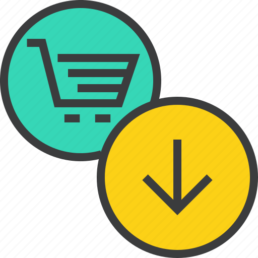 basket, cart, clear, download, guardar, item, save, shopping icon