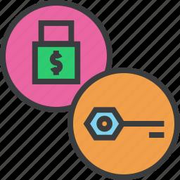 access, account security, authentication, encrytpion, key, lock, password icon