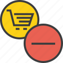 account, cart, clear, delete, item, remove, shopping icon