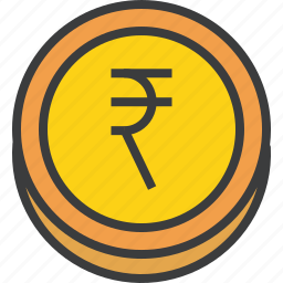 business, coin, currency, ecommerce, finance, forex, rupee icon