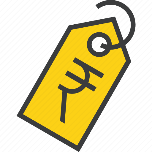 currency, ecommerce, price, rupee, sale, shopping, tag icon