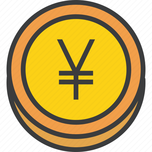 business, coin, ecommerce, finance, forex, trade, yen icon
