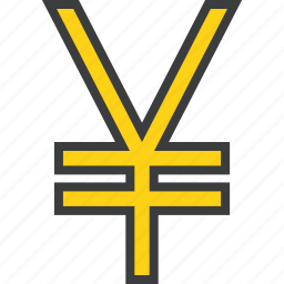 banking, business, currency, finance, forex, japanese, yen icon