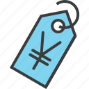 currency, ecommerce, price, sale, shopping, tag, yen icon