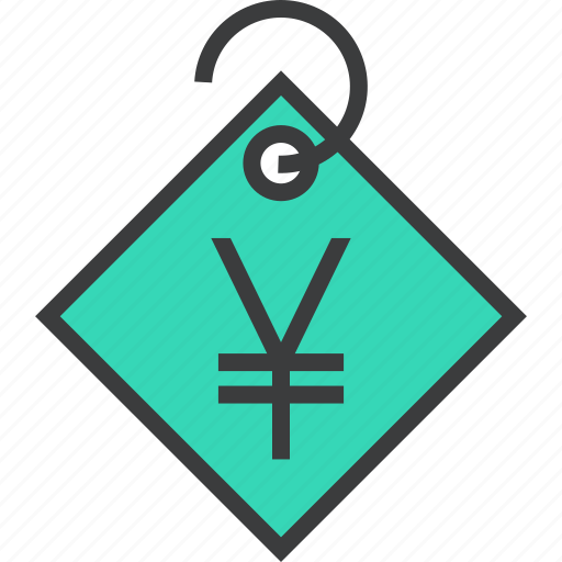 currency, ecommerce, price, shopping, tag, trade, yen icon