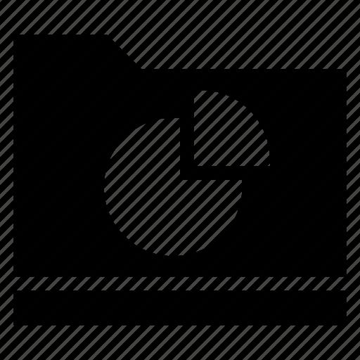 analystic, chart, folder, graph, pie, report, storage icon