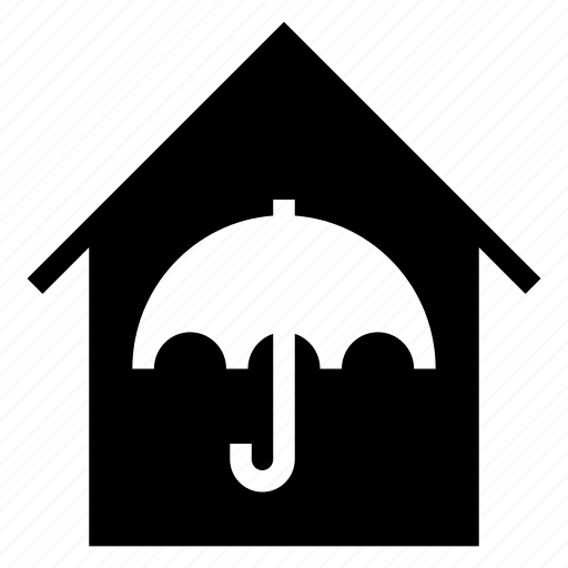 building, estate, home, house, housesecurity, security, umbrella icon