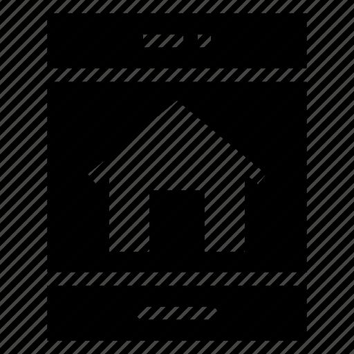 building, estate, house, houseonline, mobilebank, onlinebanking, shopping icon