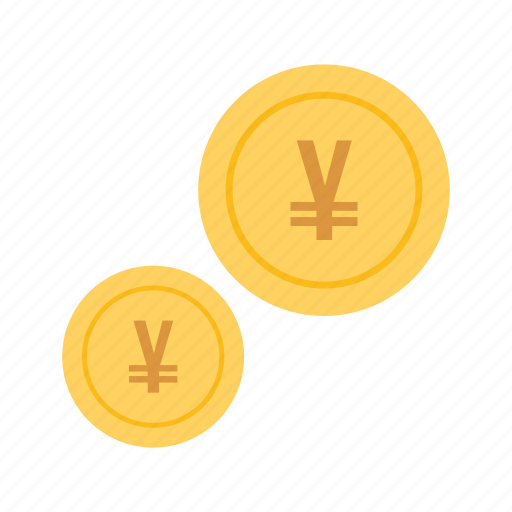 cash, coins, currencies, currency, monetary resource, money, yen icon