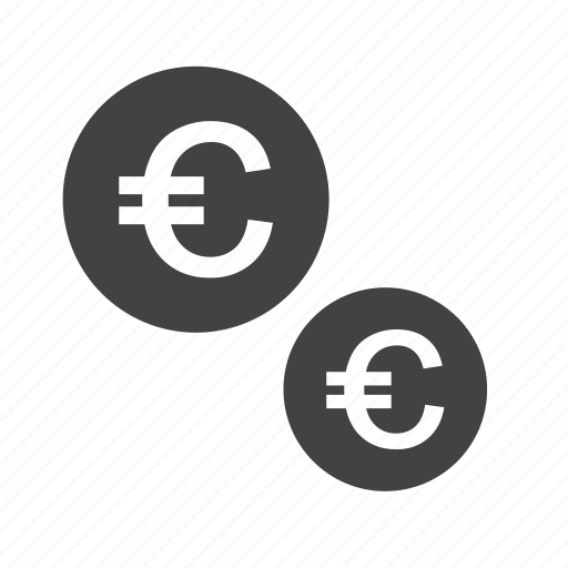 cash, coins, currencies, currency, euro, monetary resource, money icon