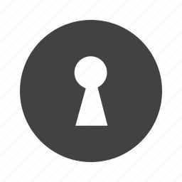 keyhole, lock, locked, locker, open, secure, security icon