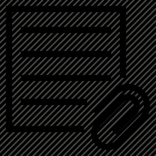 attachment, document, extension, folder, format, paper icon