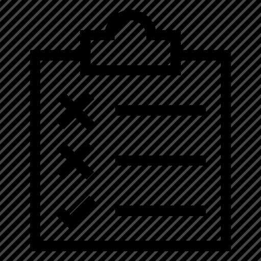 check, checklist, checkmark, clipboard, document, list, todolist icon