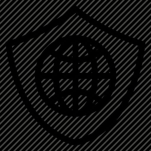 criminaljustice, global, globe, lock, protection, secure, shield icon