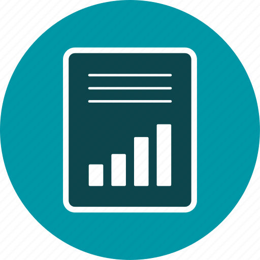 accounting, article, banking, graph, statistics icon