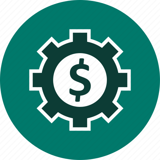 banking, business, cog icon