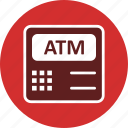 atm, atm machine, bank, banking, payment icon
