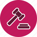 auction, justice, law, trade icon