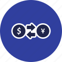 banking, currency, exchange, exchange rate, money icon