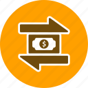 banking, exchange, finance, money, transaction icon