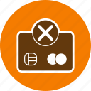 banking, credit card, payment failure icon