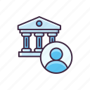 account, bank, banking, money icon