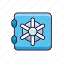 bank, banking, money, vault icon