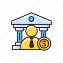 banking, merchant, money icon