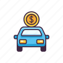 banking, car, loan, vehicle icon