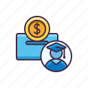 banking, college, plan, savings icon